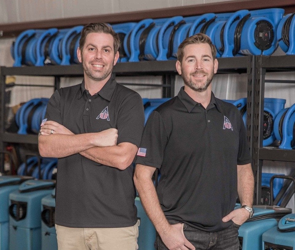 Image: Justin & Doug Bailey, Founder & Senior Operator of Ark | Fire, Water, Smoke, and Mold Damage restoration services - Ark Restoration